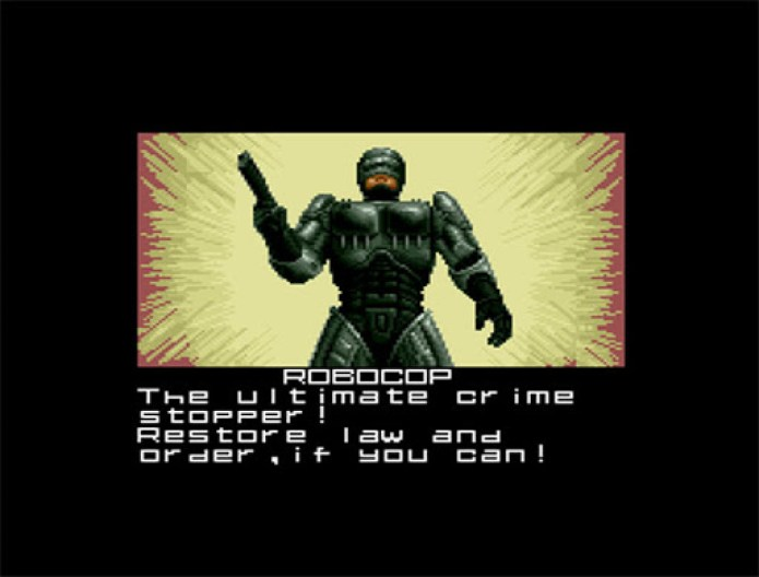 Parte da introdução de Robocop