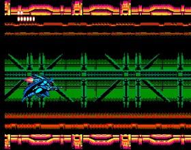 Batman voando sobre um cenário futurista