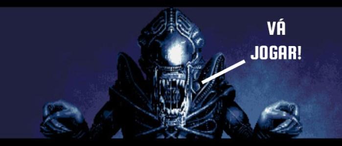 Tela de continue alien vs predator
