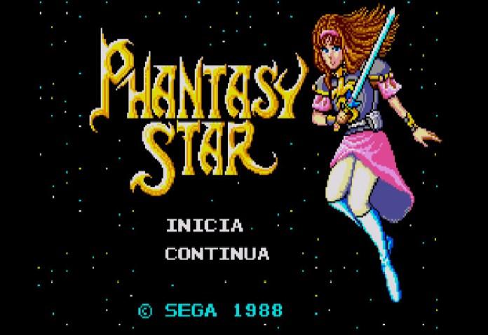 Tela título Phantasy Star