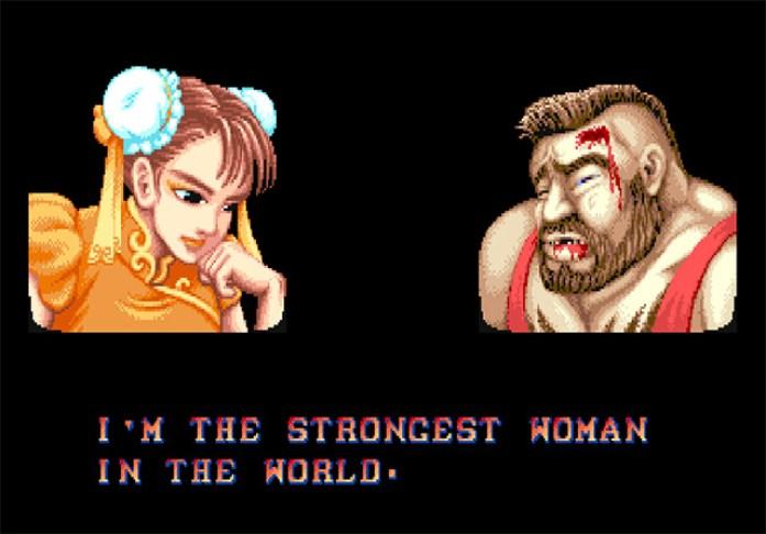 Street Fighter II (arcade) Chun-li quote
