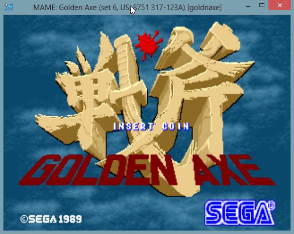 MAME rodando Golden Axe arcade