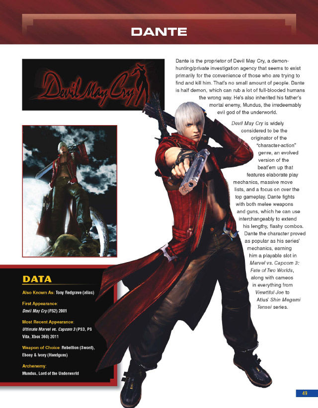 Capcom Encyclopedia Dante