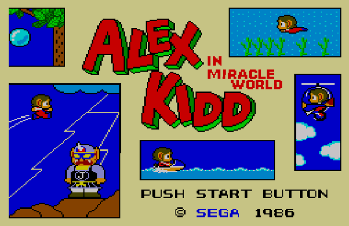 Alex Kidd in Miracle World tela título