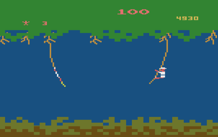 Jungle Hunt Atari 2600 floresta