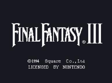 Final Fantasy III - tela título