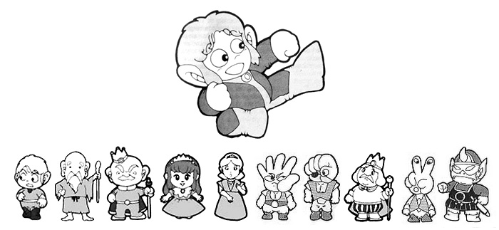 personagens de Alex Kidd