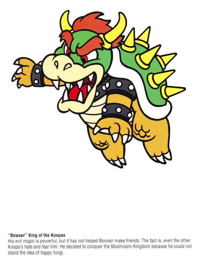 Nintendo Official Character Manual Koopa Perfil
