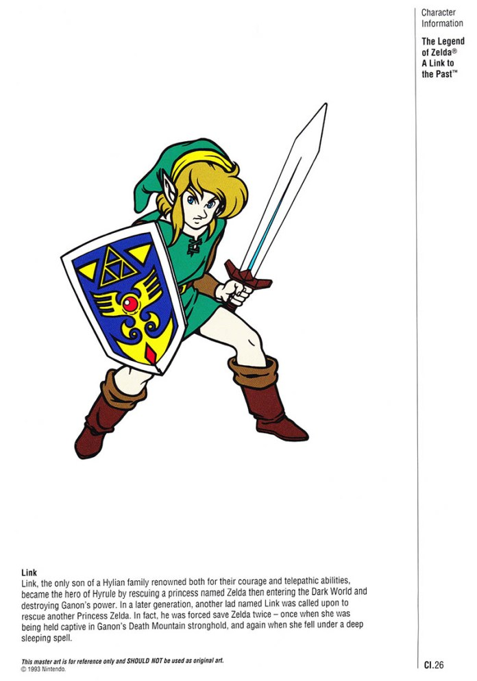 Nintendo Official Character Manual Link Perfil