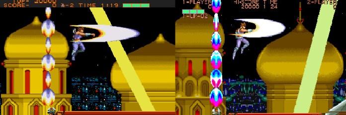 Strider Mega Drive e arcade