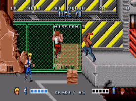 Double Dragon (Mega Drive) - fase 2