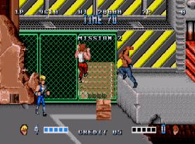 Double Dragon (Mega Drive) - fase 2