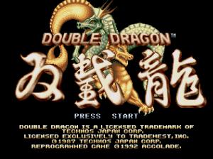 Double Dragon (Mega Drive) screen title