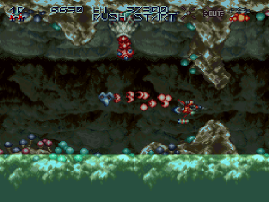 axelay snes cavern