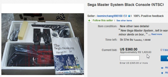 master system novo