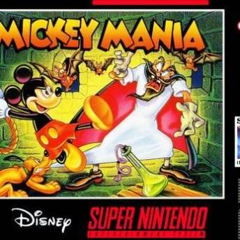 mickey mania snes cover