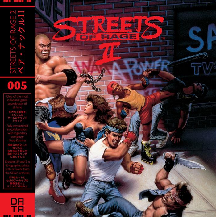 streets of rage 2 vinil capa