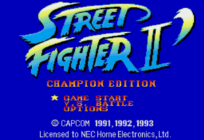 street fighter pc engine