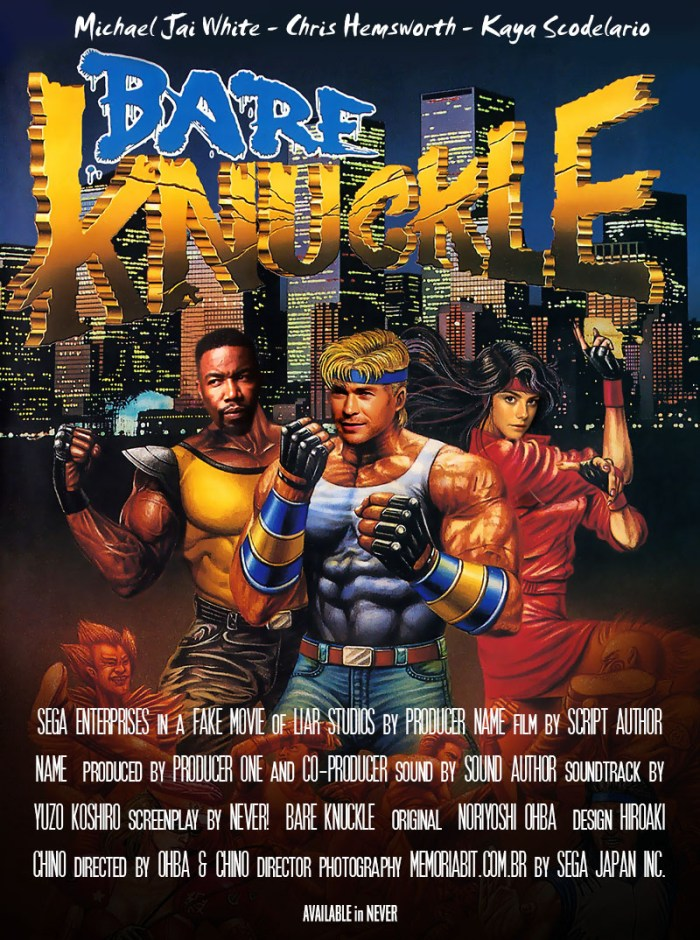 fake streets of rage move poster