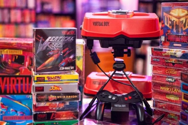Virtual Boy montado.