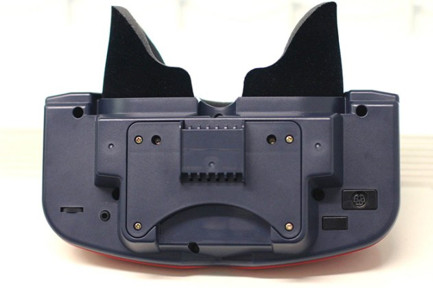 Parte inferior do protótipo. A entrada do controle era diferente.