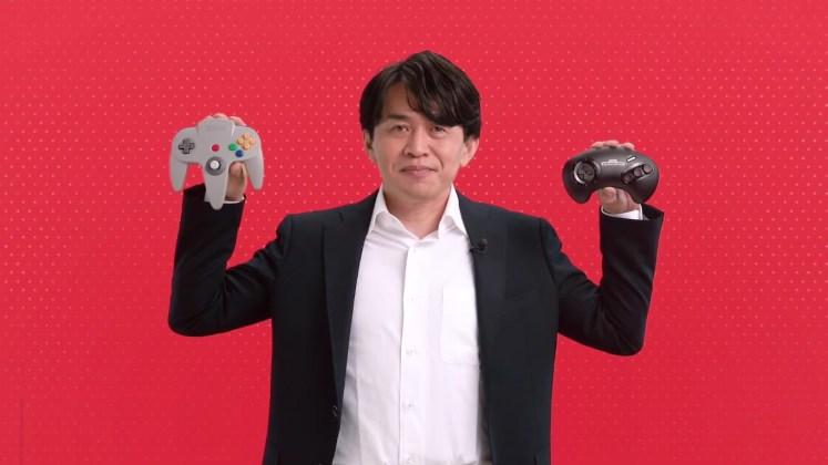 Yoshiaki Koizumi controles N64 e Genesis para Switch