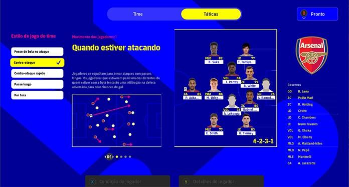 efootball 2022 esquema do time 09_10_2021