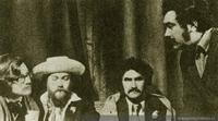 Raúl Ruiz en el rodaje de Diálogo de Exiliados, 1974