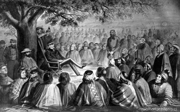 Parlamento celebrado en Hipinco entre el coronel Saavedra y todas las tribus costinas y abajinas, representadas por sus principales caciques : 24 de diciembre de 1869