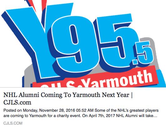 NHL Alumni Coming To Yarmouth Next Year