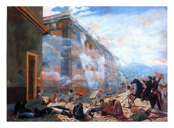 Image result for imágenes de la toma de Granaditas por Miguel Hidalgo