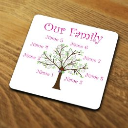 Our Family Tree Coaster Mockup For Website - Personalised Our Family Tree Coaster