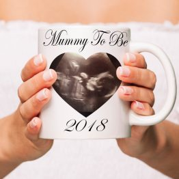 Mummy To Be Baby Scan Mug Mockup - Daddy To Be (Baby Scan) 2019 Mug Gift