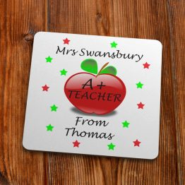 TC113 Apple A Teacher Coaster 90mm 1 - Personalised A+ Teaching Thank You Coaster Gift