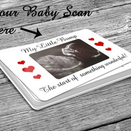 Baby Scan Business Card - Personalised Baby Scan Image Metal Aluminium Wallet Insert Card