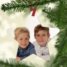Photo Christmas Star Listing Image - Personalised Photo Christmas Star