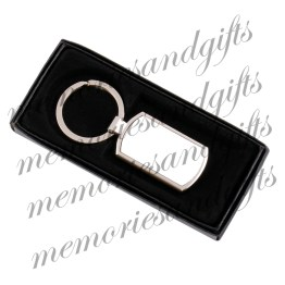 2 Metal Rectangle Keyring In Box - Family est Year Metal Keyring