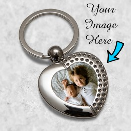Heart keyrings Mockup - Personalised Baby Scan Heart Metal Keyring Key