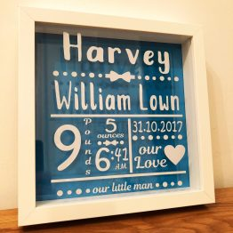 IMG 0178 6 - Personalised Baby Birth Announcement Black Frame
