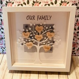 IMG 0720 - Personalised White Tree Our Family Frame