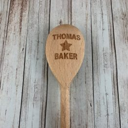 Star Baker wooden spoon e1538165406900 - Engraved Your NAME Star Baker Wooden Spoon