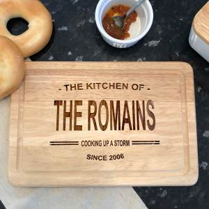 Personalised chopping boards a gift for a wedding