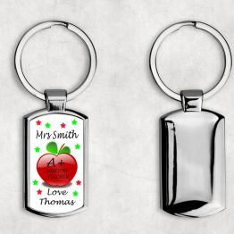 K112 Nursery Teacher Keyring - Personalised A+ Nursery Teacher Metal Keyring