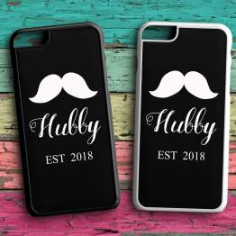Hubby EST Back plastic Black White Case - Hubby EST 2020 Phone Case
