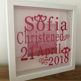 IMG 5086 - Personalised Christening Names and Date Frame