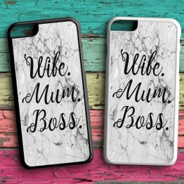 Wife Mum Boss WMB102 iPhone 7 Black White Case - Wife Mum Boss Phone Case