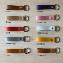Colour Leathers - Personalised My Family Your choice of Leather Genuine Keyring Gift