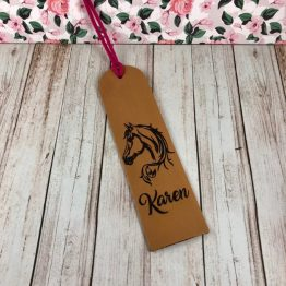 Horse Head Book Mark e1537889709837 - Personalised Genuine Leather Horse Head Bookmark