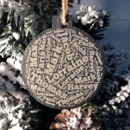 IMG 1190 e1538165832705 - Personalised Slate Names Christmas Bauble