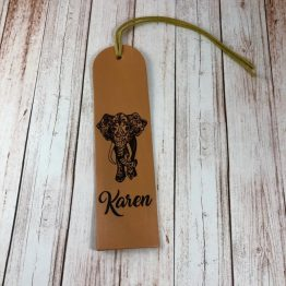 Elephant bookmark e1539702627273 - Personalised Genuine Leather Elephant Bookmark
